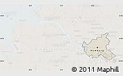 Shaded Relief Map of Hamburg, lighten