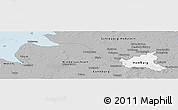 Gray Panoramic Map of Hamburg