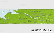 Physical Panoramic Map of Hamburg