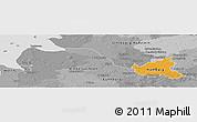 Political Panoramic Map of Hamburg, desaturated
