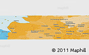 Political Panoramic Map of Hamburg