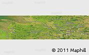 Satellite Panoramic Map of Hamburg