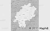 Gray 3D Map of Hessen
