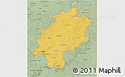 Savanna Style 3D Map of Hessen