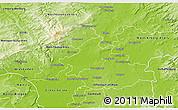 Physical 3D Map of Frankfurt am Main