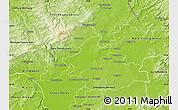 Physical Map of Frankfurt am Main