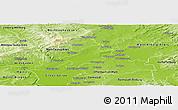 Physical Panoramic Map of Frankfurt am Main