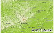 Physical 3D Map of Hochtaunuskreis