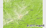 Physical Map of Hochtaunuskreis