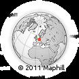 Outline Map of Hochtaunuskreis