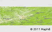Physical Panoramic Map of Hochtaunuskreis