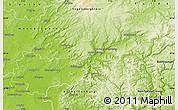 Physical Map of Main-Kinzig-Kreis