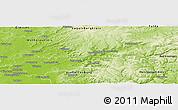 Physical Panoramic Map of Main-Kinzig-Kreis