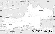 Silver Style Simple Map of Main-Kinzig-Kreis