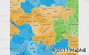 Political Shades Map of Darmstadt