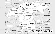 Silver Style Simple Map of Darmstadt