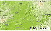 Physical 3D Map of Wetteraukreis