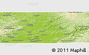 Physical Panoramic Map of Wetteraukreis