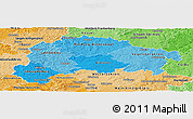 Political Shades Panoramic Map of Gießen