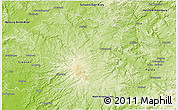 Physical 3D Map of Vogelsbergkreis