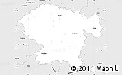 Silver Style Simple Map of Vogelsbergkreis