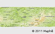 Physical Panoramic Map of Fulda
