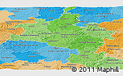Political Shades Panoramic Map of Kassel