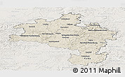 Shaded Relief Panoramic Map of Kassel, lighten