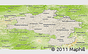 Shaded Relief Panoramic Map of Kassel, physical outside