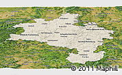 Shaded Relief Panoramic Map of Kassel, satellite outside