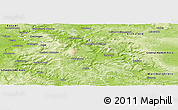 Physical Panoramic Map of Werra-Meißner-Kreis