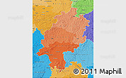 Political Shades Map of Hessen