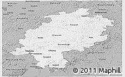 Gray Panoramic Map of Hessen