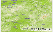 Physical Panoramic Map of Hessen