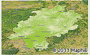 Physical Panoramic Map of Hessen, satellite outside