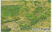 Satellite Panoramic Map of Hessen