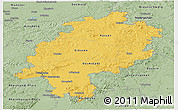 Savanna Style Panoramic Map of Hessen