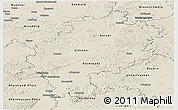 Shaded Relief Panoramic Map of Hessen