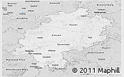 Silver Style Panoramic Map of Hessen