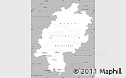 Gray Simple Map of Hessen
