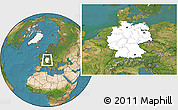 Blank Location Map of Germany, satellite outside