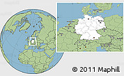 Blank Location Map of Germany, savanna style outside