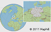 Gray Location Map of Germany, savanna style outside