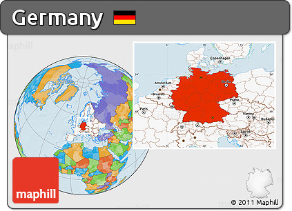 Free political location map of germany highlighted continent highlighted continent political location map of germany highlighted continent gumiabroncs Image collections