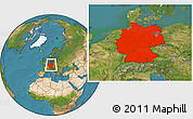 Satellite Location Map of Germany