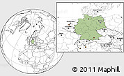 Savanna Style Location Map of Germany, blank outside