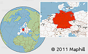 Savanna Style Location Map of Germany, highlighted continent