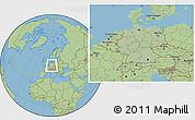 Savanna Style Location Map of Germany, hill shading inside