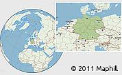 Savanna Style Location Map of Germany, lighten, land only