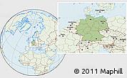 Savanna Style Location Map of Germany, lighten